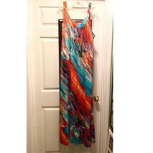 Fashion Bug Colorful Maxi Dress